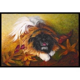 Carolines Treasures MH1046MAT Pekingese Boogie Indoor & Outdoor Mat 18 x 27 in.
