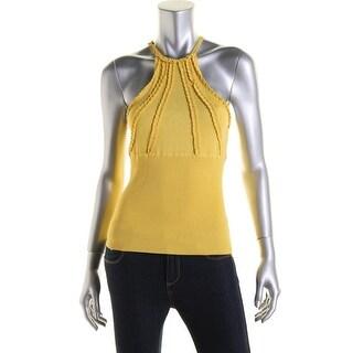 Catherine Malandrino Womens Pleated Knit Tank Top - S