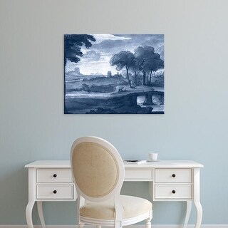 Easy Art Prints Claude Lorrain's 'Pastoral Toile IV' Premium Canvas Art