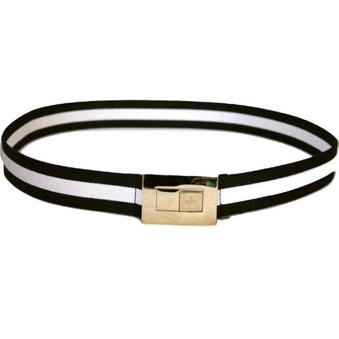 7372dc4e5 Gucci Women's BWB Web Belt with Gold Buckle 253488 (90 / 36) - 90