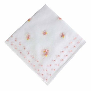 Pink Rosebuds and Dots Cotton Handkerchief
