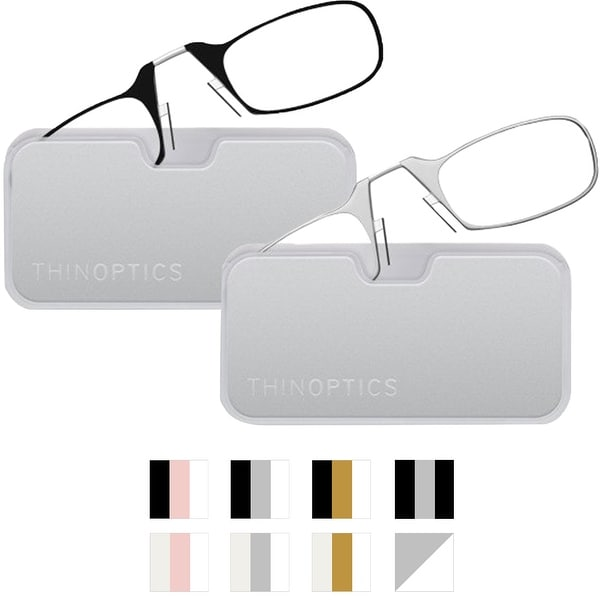 6506743fdf7e Shop ThinOptics Secure Fit Armless Ultralight Reading Glasses with Metal  Finish Pod - Free Shipping On Orders Over $45 - Overstock - 25695640