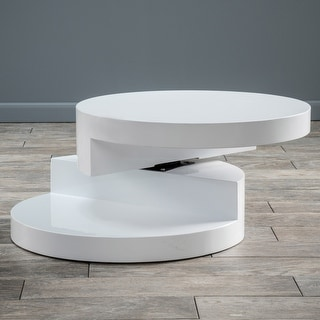 Link to Small Circular Mod Rotatable Coffee Table by Christopher Knight Home Similar Items in Living Room Furniture