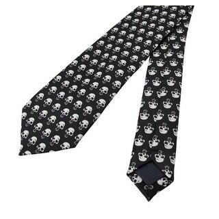 Gothic Black / White Skull Print Necktie Neck Tie