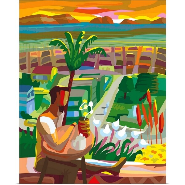 """Landscape Overlooking San Francisco"" Poster Print"