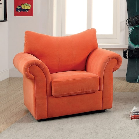 Furniture of America Paia Modern Flannelette Padded Flared Armchair