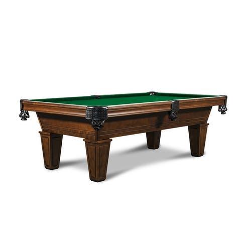 Miller 8' Slate Pool Table w/Premium Billiard Accessories