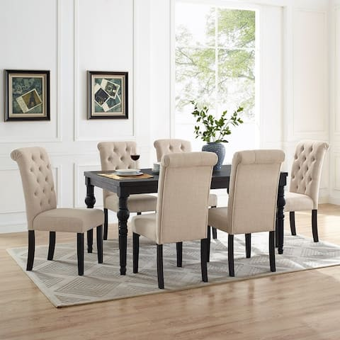 Leviton Wood Dark Wash Turned-Leg 7 piece Dining Set