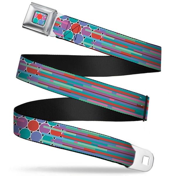 Rz Stripes Dots Full Color Multi Color Rz Stripes Dots Multi Color Webbing Seatbelt Belt