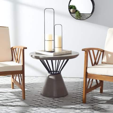 "SAFAVIEH Outdoor Darien Concrete Coffee Table - 23.62"" x 23.62"" x 19.88"""