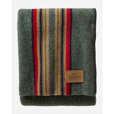 Pendleton Yakima Camp Green Heather Throw