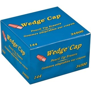 Pink - Dixon Wedge Pencil Cap Erasers 144/Pkg
