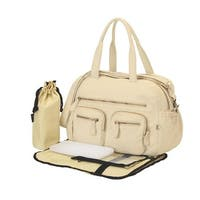 oioi Almond Faux Lizard Carry-All Diaper Bag