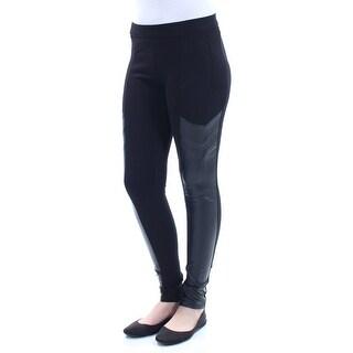 BAR III Womens Black Faux Leather Leggings Size: 2XS