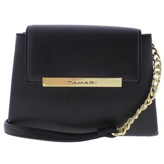 Tahari Womens Lacey Crossbody Handbag Faux Leather Mini - small