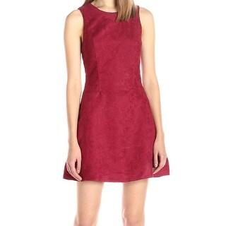 BCBG Generation NEW Red Women's Size 4 Faux Suede Sheath Dress