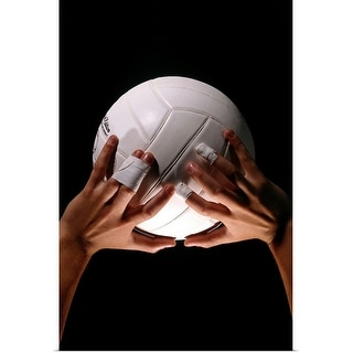 """""""Volleyball Hands"""" Poster Print"""