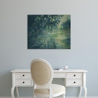 Easy Art Prints Claude Monet's 'Morning on the Seine' Premium Canvas Art