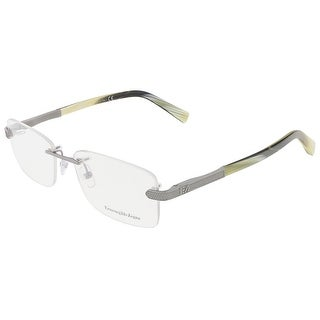 Ermenegildo Zegna EZ5010/V 014 ShinyRuthenium Grey/Yellow Rectangular Opticals
