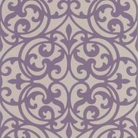 Brewster DL30627 Sonata Purple Ironwork Wallpaper