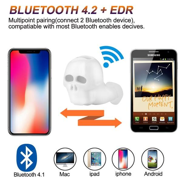 Shop Agptek Mini Wireless Earbuds Bluetooth 4 2 Headset Stereo Invisible Headphones With Mic For Iphone Samsung Htc Overstock 29605976