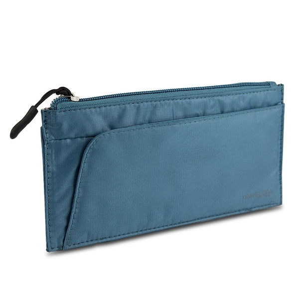 Travelon Safe ID Hack-Proof Large Credit Card Wallet with RFID Blocking, Teal