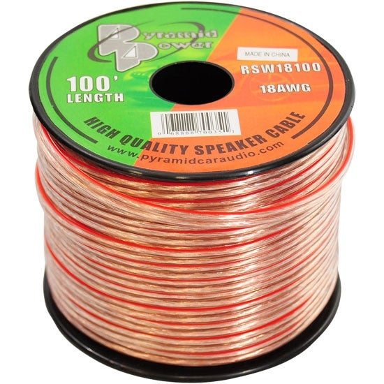 18 Gauge 100 ft. Spool of High Quality Speaker Zip Wire