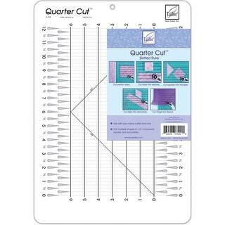 """Quarter Cut Slotted Ruler-11-1/4""""X16"""""""