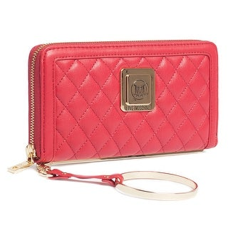 Moschino JC5504 0500 Red Zip Around Wallet - 7.5-4-1.2