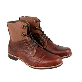 GBX Griff Mens Brown Leather Casual Dress Lace Up Boots Shoes