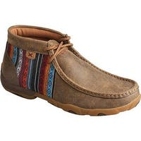 Twisted X Boots Women's WDM0105 Driving Moc Bomber/Multi Leather/Canvas
