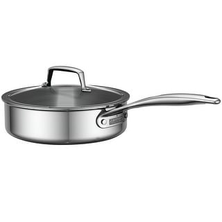ZWILLING Energy 3-Ply 3-qt Stainless Steel Saute Pan w/Lid