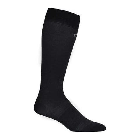 Icebreaker Women's Snow Liner Over The Calf Sock (2 Pairs) Black