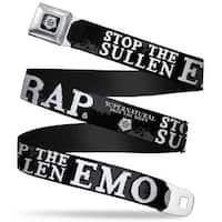 Winchester Logo Full Color Black White Supernatural Stop The Sullen Emo Seatbelt Belt