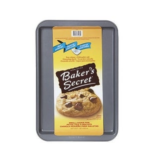 "Baker's Secret 1114411 Non Stick Small Cookie Sheet, 13""x9""x5/8"""
