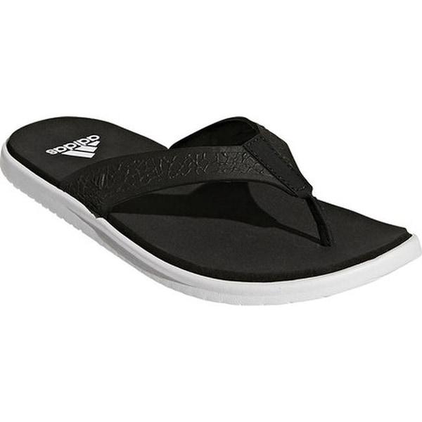 780479cb0f178c adidas Women  x27 s Beachcloud Cloudfoam Y Thong Sandal Black White Black