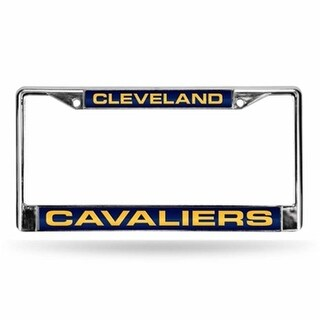 RicoIndustries Cavaliers Laser Chrome Frame - Navy Background With