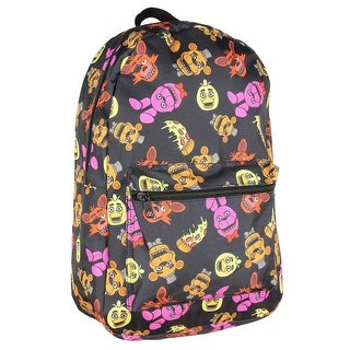 Five Nights at Freddy's Characters & Pizza Allover Print Backpack