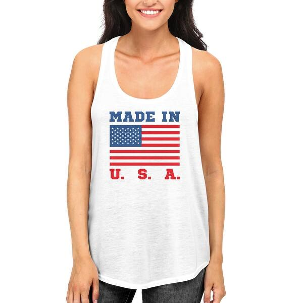 a83212244 Made In USA Tank Top for July 4th Celebration American Flag RacerBack Tanks