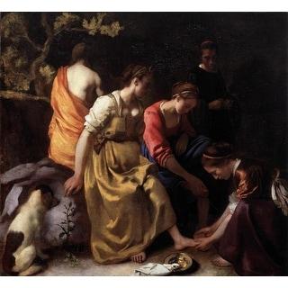 Easy Art Prints Johannes Vermeer's 'Diana and her Companions' Premium Canvas Art