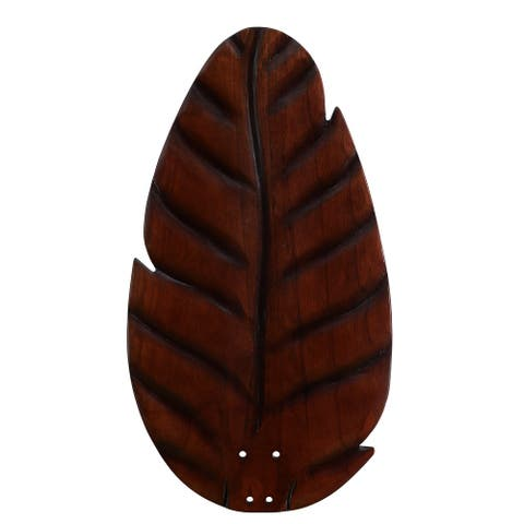 myFanimation Blade Set of Five - 54 inch - Buttonwood/Oval Leaf - Dark Cherry