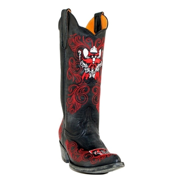 "Gameday Boots Women Texas Tech 13"" Shaft Pointed Toe Leather"