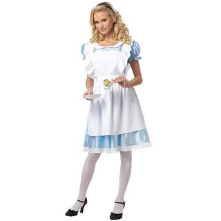 California Costumes Alice In Wonderland Adult Costume - Blue/White
