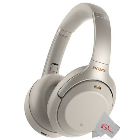 Sony WH-1000XM3 Wireless Noise-Canceling Over-Ear Headphones (SILVER) with Mic and Alexa Voice Control