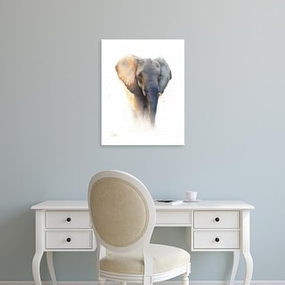 Easy Art Prints Eric Sweet's 'Elephant Watercolor' Premium Canvas Art