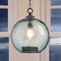 "Luxury Vintage Pendant Light, 14""H x 12""W, with Americana Style, Olde Bronze Finish by Urban Ambiance"