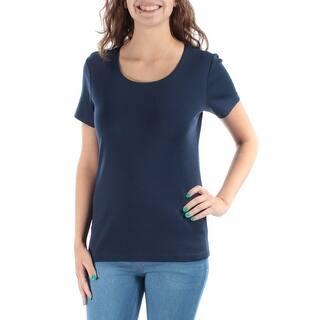c1159c4ee9a Quick View. Was  10.99.  2.20 OFF. Sale  8.79. KAREN SCOTT Womens Navy  Short Sleeve Jewel Neck Top Size  XS