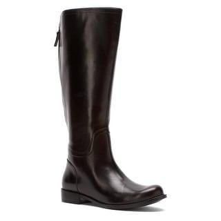 Nine West Womens Contigua (Wide Calf) Leather Closed Toe Knee High Fashion  Bo.