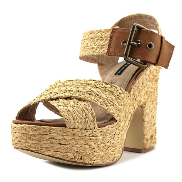 MTNG 53636 Women Rafia Beige Sandals