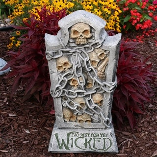 Sunnydaze No Rest for the Wicked Tombstone Halloween Decoration - 24-Inch